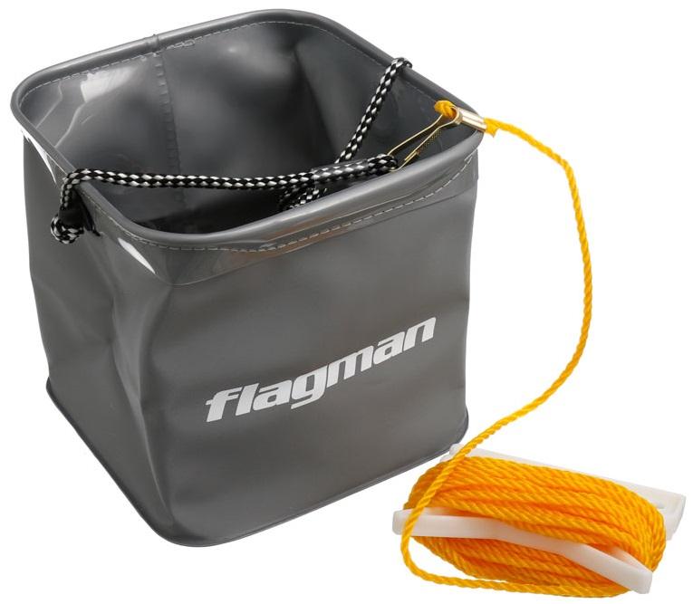 Flagman skládací kbelík se šňůrkou 18,5x18,5x18,5 cm