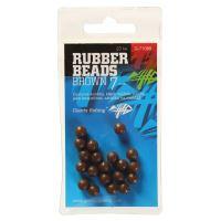 Giants Fishing Gumové Kuličky Rubber Beads Transparent Brown  -5 mm