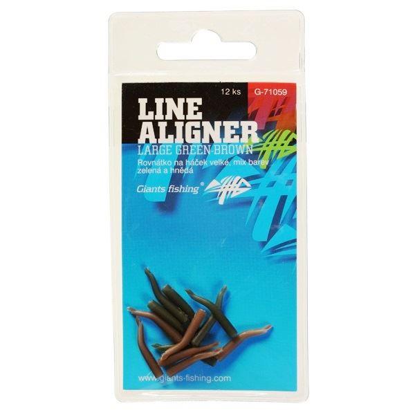Giants Fishing Rovnátka Line Aligner Zelené a Hněde 12 ks