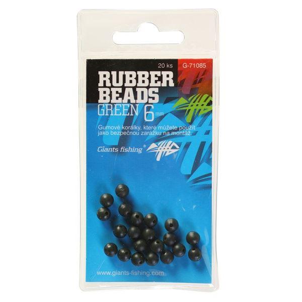 Giants Fishing Gumové Kuličky Rubber Beads Transparent Green