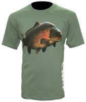 Zfish Tričko Carp T-Shirt Olive Green-Velikost L