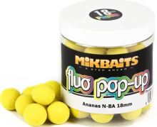 Mikbaits Plovoucí Boile Fluo 250 ml 18 mm-Ananas N-BA