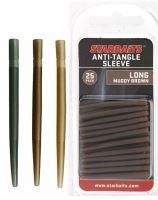 Starbaits Převleky Anti Tangle Sleeve Long 4 cm 25 ks-Hnědá