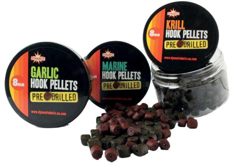 Dynamite baits pellets pre-drilled hook 8 mm-marine halibut
