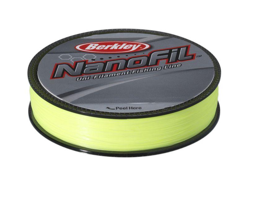 Berkley vlasec nanofil fluo žlutá 125 m-průměr 0,22 mm / nosnost 14,715 kg
