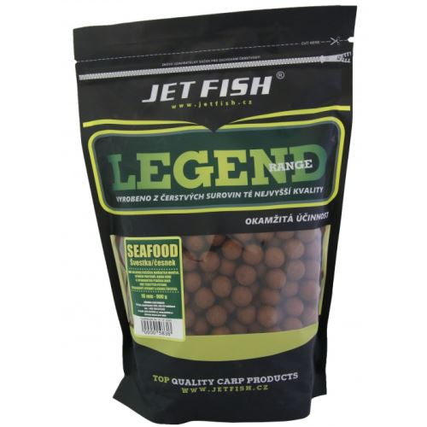Jet Fish  Boilie Legend Range Seafood + Švestka / Česnek - AKCE