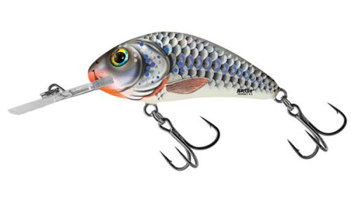Salmo Wobler Rattlin Hornet Floating Silver Holographic Shad