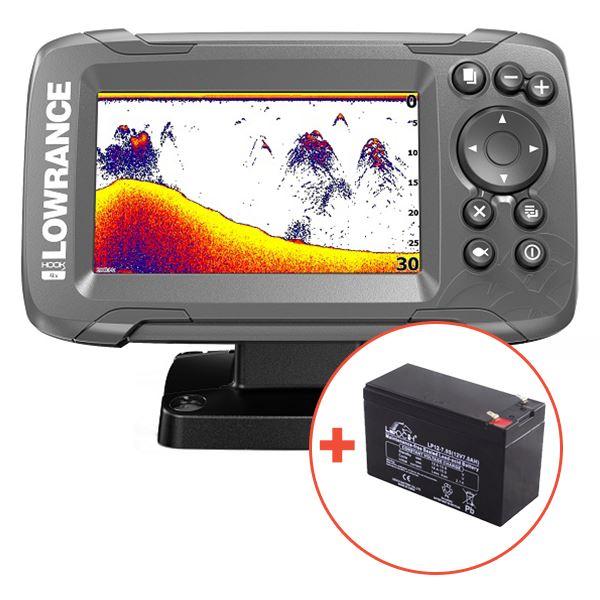 Lowrance Echolot Hook2 4X GPS Sondou Bullet Skimmer