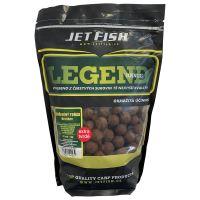 Jet Fish Extra Tvrdé Boilie Legend Range Klořeněný Tuňák Broskev 24 mm 250 g