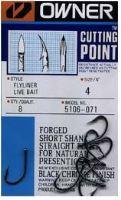 Owner háček  s očkem + cutting point  5106-Velikost 1/0