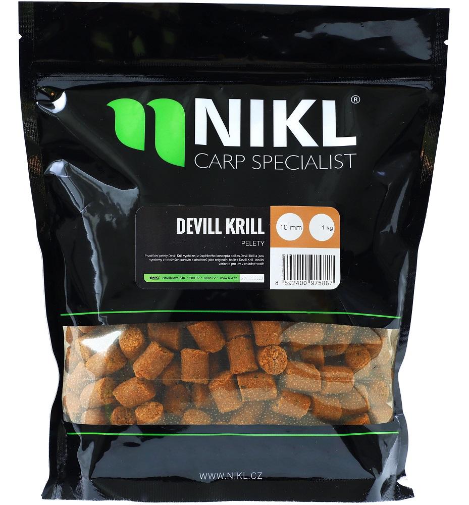 Nikl pelety devill krill-10mm 3kg