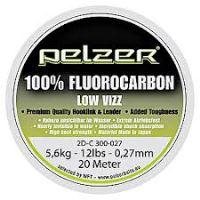 Pelzer - Návazcový vlasec  Fluorocarbon 20 m crystal-Průměr 0,33 mm / Nosnost 18 lb / 7,4 kg