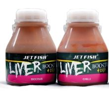 Jet Fish liver booster + dip 250 ml Frankfurtská klobása/Banán