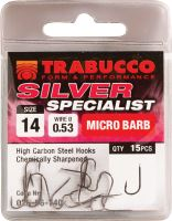 Trabucco Háčky Silver Specialist 15 ks-Velikost 14