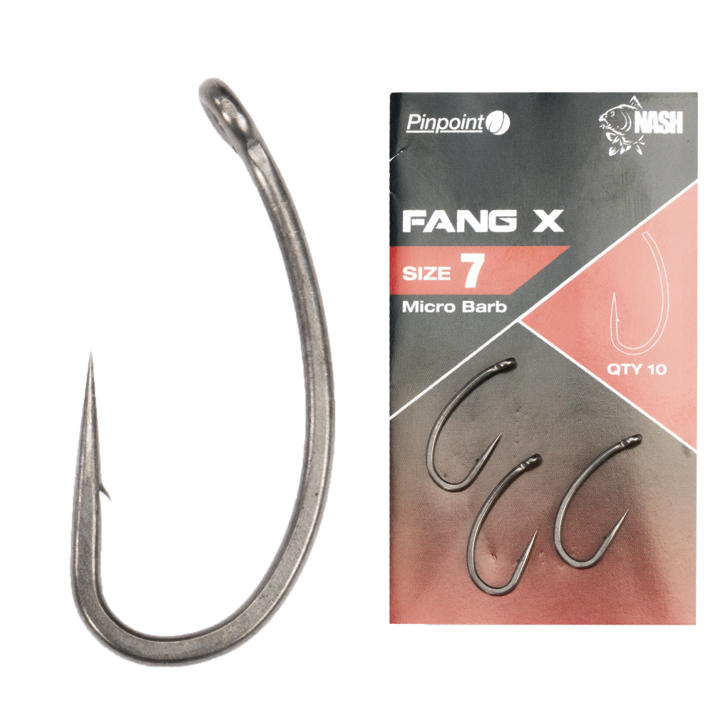 Nash háčky pinpoint fang x micro barbed-velikost 10