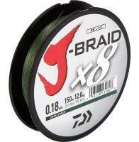 Daiwa Splétaná Šňůra J-Braid Dark Green 300 m-Průměr 0,13 mm / Nosnost 8 kg