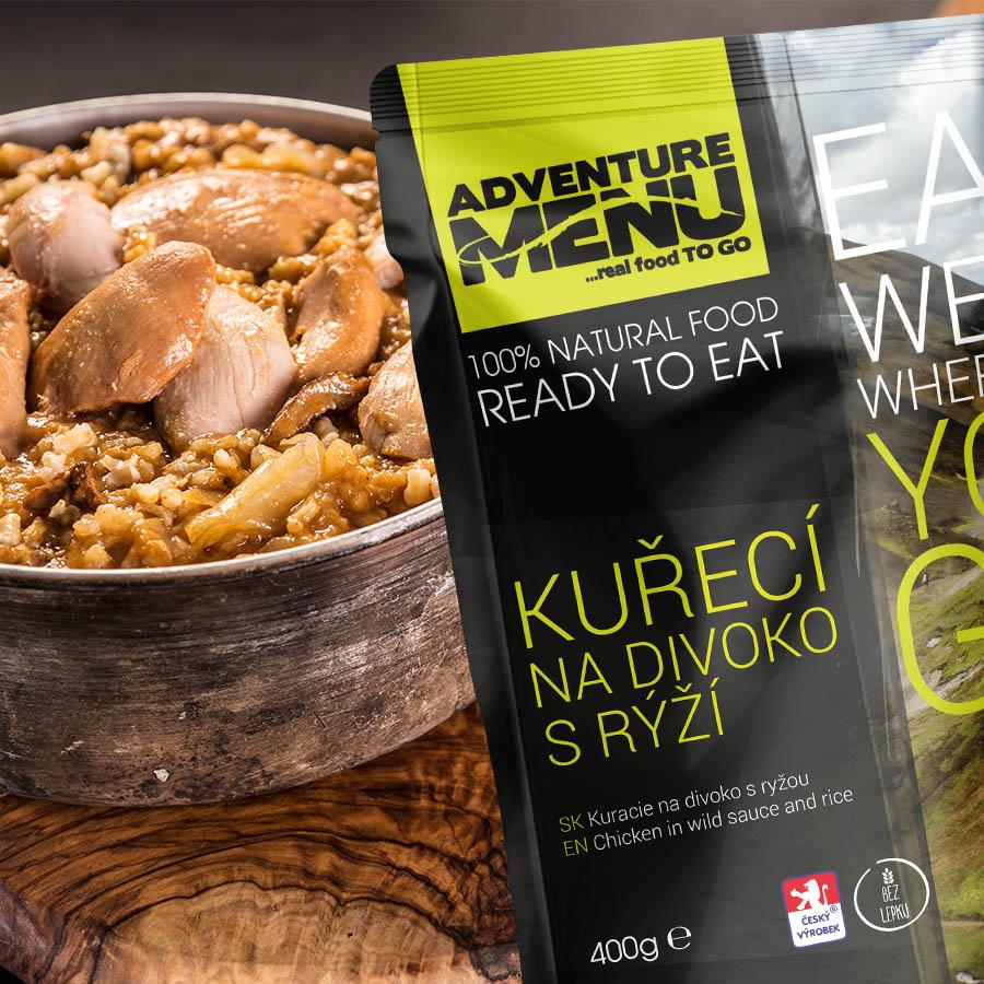 Adventure menu kuře na divoko s rýží