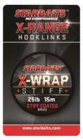 Starbaits Návazcová Šňůrka X Wrap Stiff Coated Braid 15 m Hnědá -Nosnost 35 lb