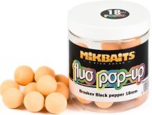 Mikbaits Plovoucí Boile Fluo 250 ml 18 mm-Broskev Black pepper