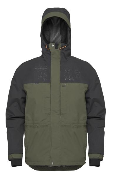 Geoff anderson bunda barbarus zeleno černá-velikost xxl
