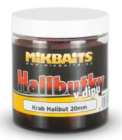 Mikbaits Pelety Halibutky v Dipu 20 mm 250 ml - Krab Halibut