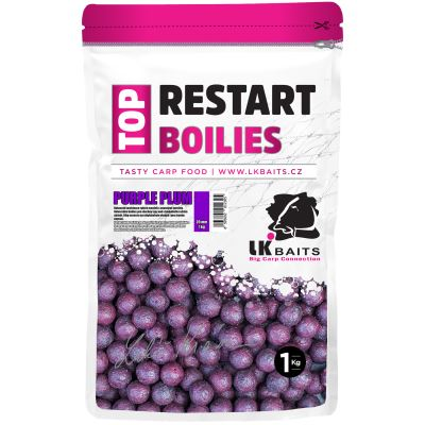 LK Baits Boilie Top ReStart Purple Plum