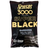 Sensas krmení  3000 SUPER BLACK 1kg-Carpes