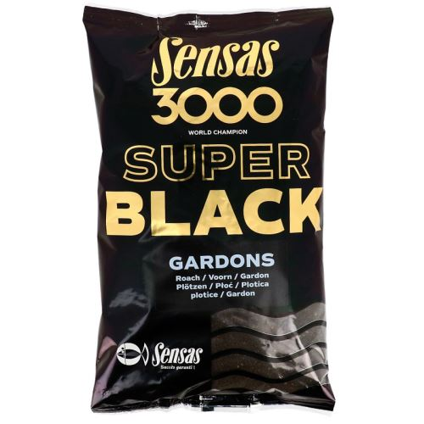 Sensas krmení  3000 SUPER BLACK 1kg