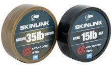 Nash Návazcová Šňůrka Potahovaná SkinLink Stiff 10 m Gravel Hnědá-Průměr 25 lb / Nosnost 11,33 kg