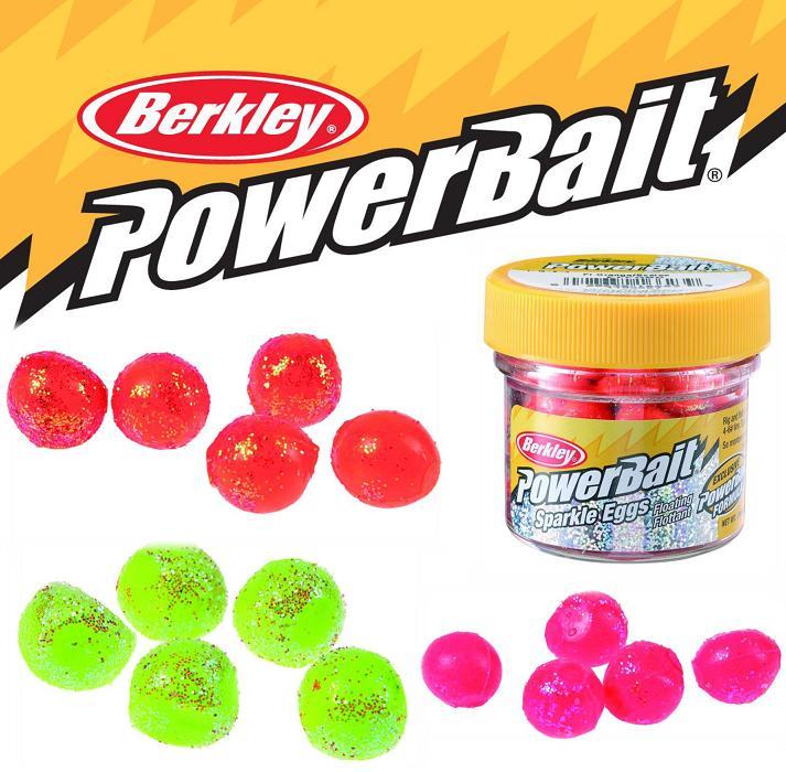 Berkley gumové nástrahy powerbait jikry 1 cm 14 g-růžová+gliter