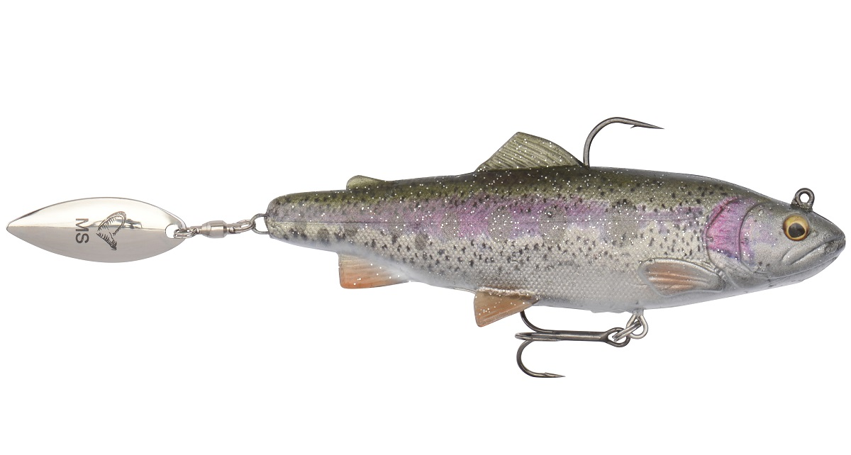 Savage gear gumová nástraha pstruh 4d spin shad trout ms rainbow-11 cm 40 g