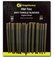 RidgeMonkey Převleky Proti Zamotání Anti Tangle-25 mm Organic Brown