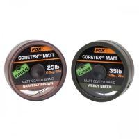 Fox Edges Matt Coretex 20 m-Gravelly Brown / Nosnost 20 lb / Barva Brown