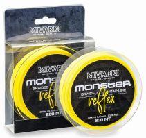 Mivardi Splétaná Šňůra Monster Reflex Braid 200 m Žlutá-Průměr 0,60 mm