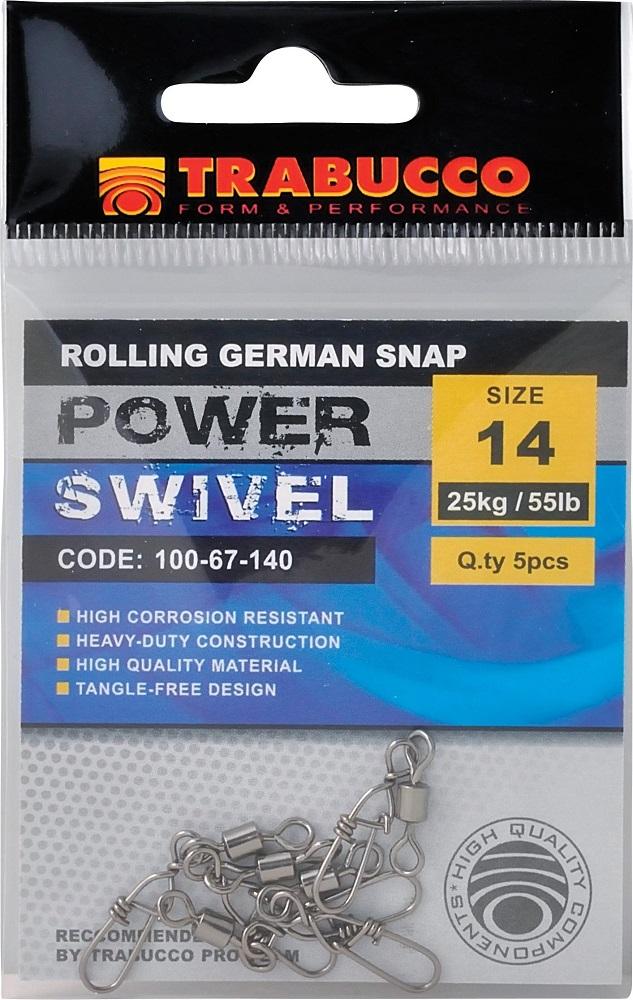 Trabucco karabinka rolling german snap 5 ks-velikost 20