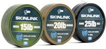 Nash Návazcová Šňůrka Potahovaná SkinLink Semi Stiff 10 m Silt Tmavá -Průměr 35 lb / Nosnost 15,87 kg