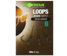Korda Hotové Návazce Loop Rigs Krank Barbless 8,2 kg-Háček 6