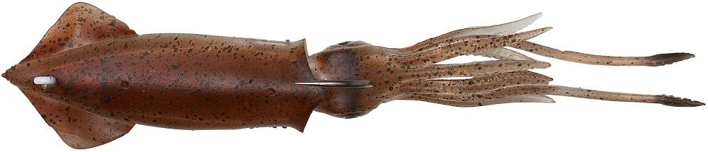 Savage gear gumová nástraha 3d tpe swim squid brown uv-9,5 cm 10 g