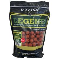 Jet Fish Extra Tvrdé Boilie Legend Range Robin Red Brusinka 30 mm 250 g