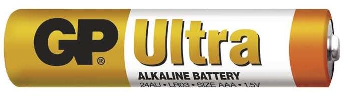 Gp batteries alkalická baterie gp ultra lr03 (aaa) 4 ks