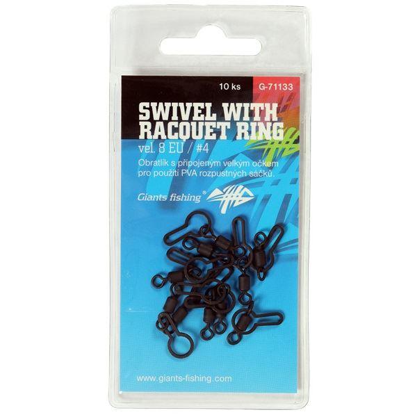 Giants Fishing Obratlík Swivel with Racquet Ring 10 ks Velikost 8