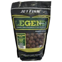Jet Fish Boilie LEGEND Kořeněný tuňák + A.C. broskev-200 g 12 mm