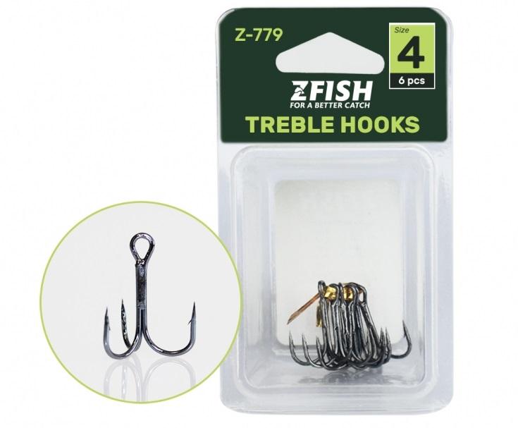 Zfish trojháčky treble hooks z-779 - 1