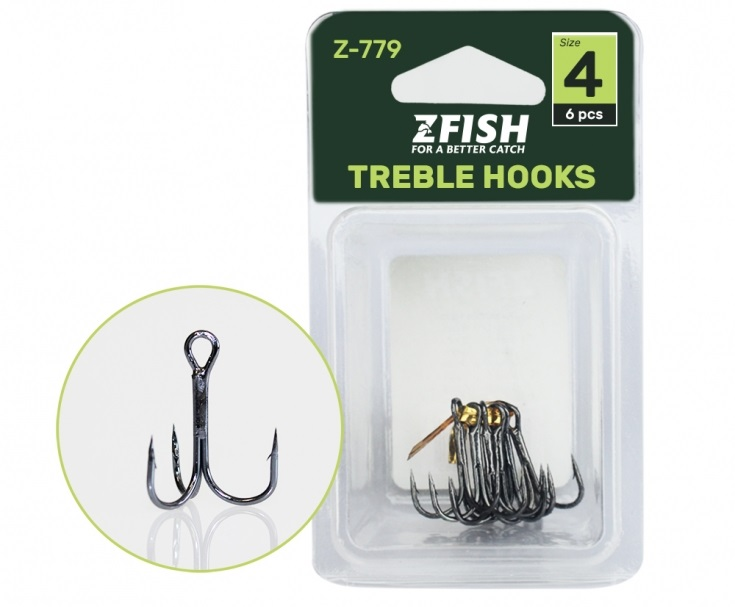Zfish trojháčky treble hooks z-779 - 2