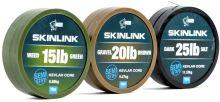 Nash Návazcová Šňůrka Potahovaná SkinLink Semi Stiff 10 m Silt Tmavá -Průměr 15 lb / Nosnost 6,80 kg