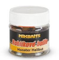 Mikbaits rohlíkové boilie 50ml-monster halibut
